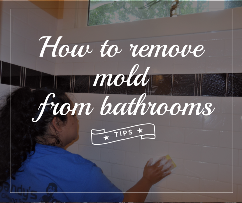 How to remove mold from bathrooms